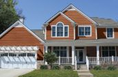 home exterior with orange siding