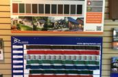 hbm metal roofing and trim agway metals roofing samples wall display