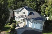 aerial exterior of home with new roof