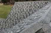 grey shingles on exterior of home roof